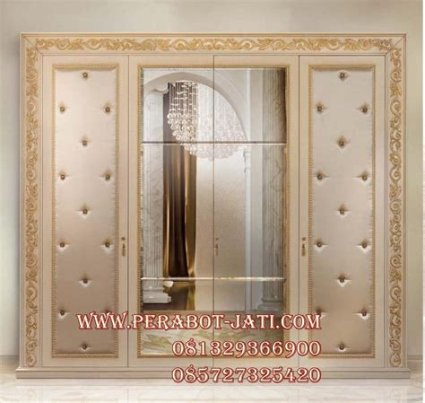 Lemari Pakaian Ukir Jepara perabot lemari pakaian syahrini minimalis ukir cat gold