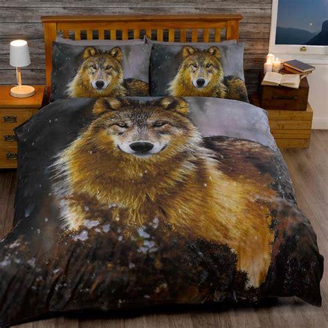 bettdecke tiere wolf bettdecke einzel und doppelt bettdeckenbezug und