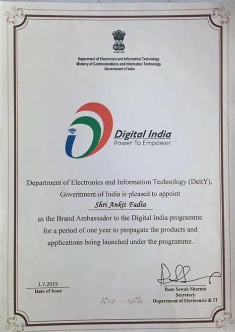Qualcomm Rejection Letter Ankit Fadia Claims To Be Appointed Brand Ambassador Of Digital India Government Denies