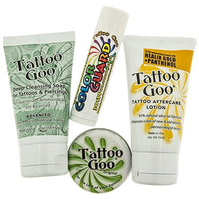 tattoo goo kit instructions tattoo goo tattoo goo s tattoo aftercare kit body jewelry