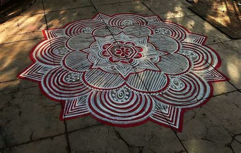 Home Mandir Decoration by Kolam Rangoli Designs Kolam Kolam Designs Rangoli