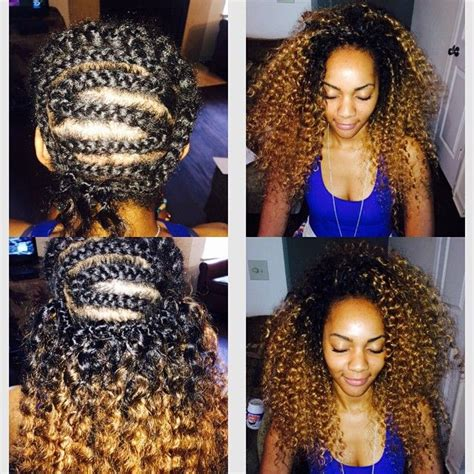 ombre crochet hairstyles ombre crochet braids freetress deeptwist two tone https