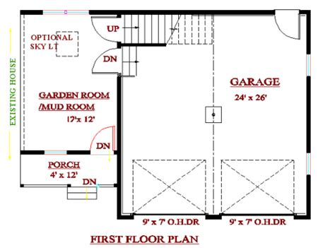garage addition floor plans garage addition plans cadsmith studio cape style garage