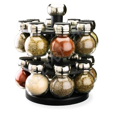 Glass Spice Rack olde thompson orbit spice rack 16 glass herb spice jars holder carousel set ebay
