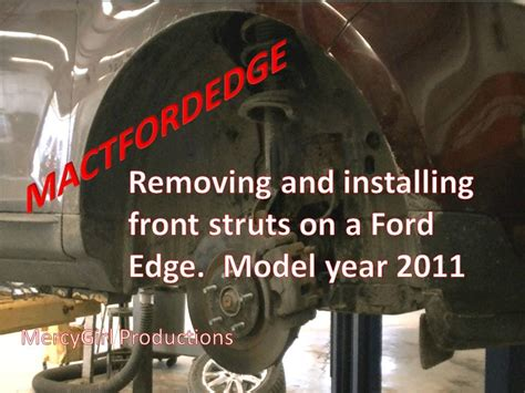 2008 ford edge rear shock removal and installation youtube ford edge front strut removal and installation 2007 thru