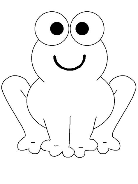 coloring book page template frog coloring page applique templates pinterest