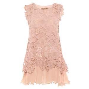 jolie moi mauve crochet lace layered dress