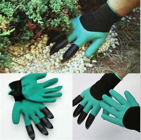 Sale Garden Genie Gloves Easy Way To Garden Sarung Tangan Berkebun garden genie gloves for digging planting with4 abs plastic claws gardening u ebay