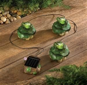 solar frog trio garden d 233 cor imallshoppe com