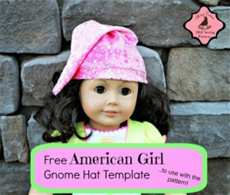 Free American Doll Gnome Hat Template Whimsy Couture Sewing Patterns American Doll Clothes Templates