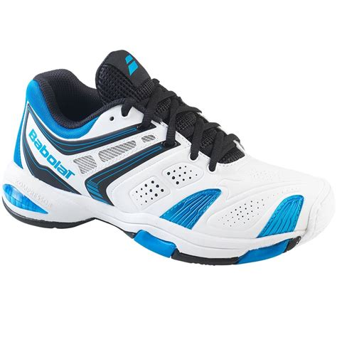 babolat v pro 2 junior tennis shoe white blue