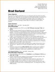 Exle Of Objectives On A Resume by Sle Career Objectives In Resume Resume Exles 2017