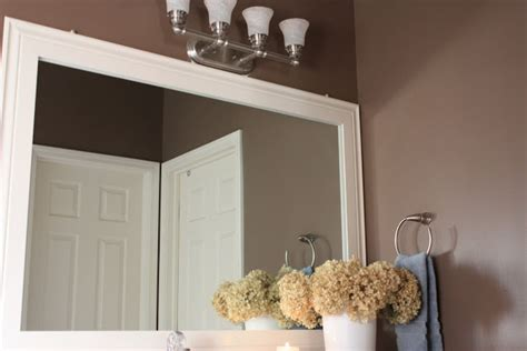 Frame Bathroom Mirror With Moulding The Yellow Cape Cod Bathroom Upgrades