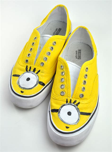 Minion Shoes minion painted shoes for back to school fashion