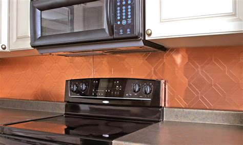 Kitchen Copper Backsplash Copper Backsplash Tiles With Contemporary With 2d Design Of Copper Backsplash Tiles For