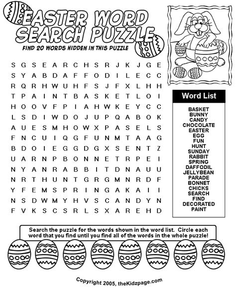 7 easter word searches printable intermediate
