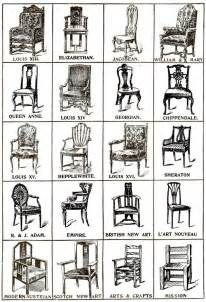 historical chair styles furniture on the