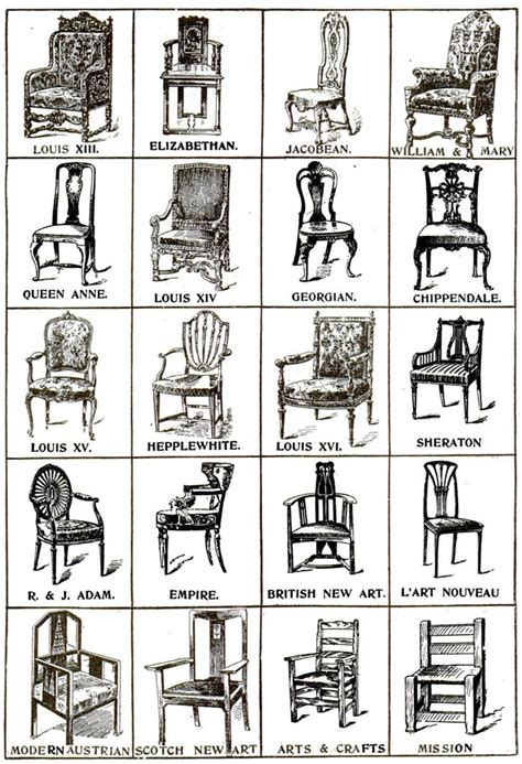 vintage armchair styles historical chair styles furniture pinterest on the
