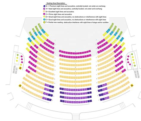 orchestra section seating seating chart minnesota opera