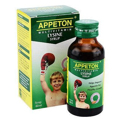 Appeton Tablet appeton multivitamin lysine tablet syrup increase appetite