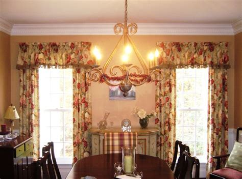 french country design dining room transitional window