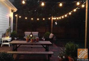 outdoor light strings patio outdoor lighting ideas for your backyard