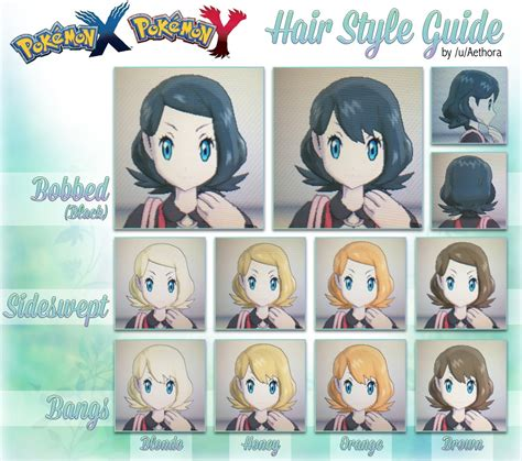 hairstyles in pokemon moon male pokemon x female hairstyles fade haircut