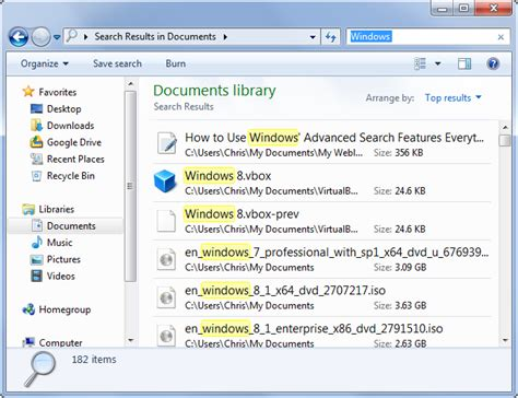 Use Search On All About Computing How To Use Windows Advanced