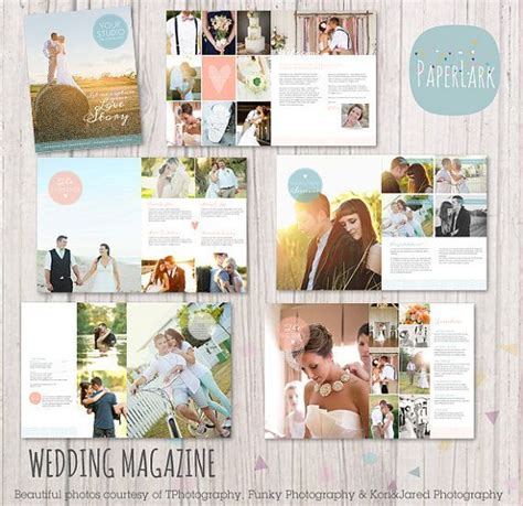 wedding photography magazine 22 page template when i get the time photography