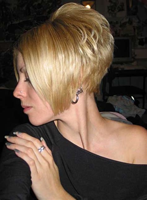 the swing short hairstyle short n the back and long in te frlnt at a angle 35 short stacked bob hairstyles short hairstyles 2016