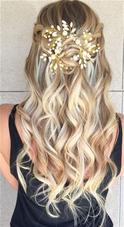 curls half up half down hairstyles medium length hair medium length hairstyles in the curly half up and half