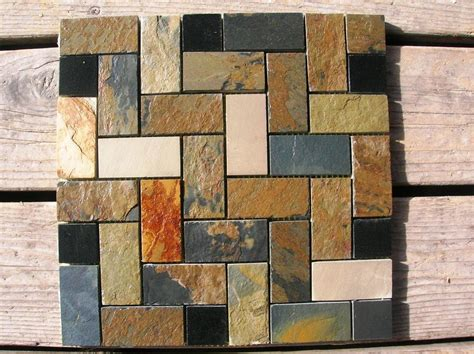 mosaic slate tile backsplash home design pros and cons