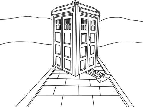 tardis free coloring pages