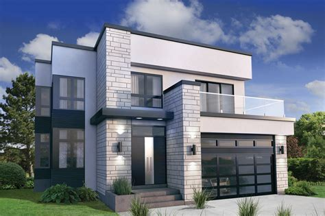 exterior house plan modern style house plan 3 beds 2 50 baths 2370 sq ft