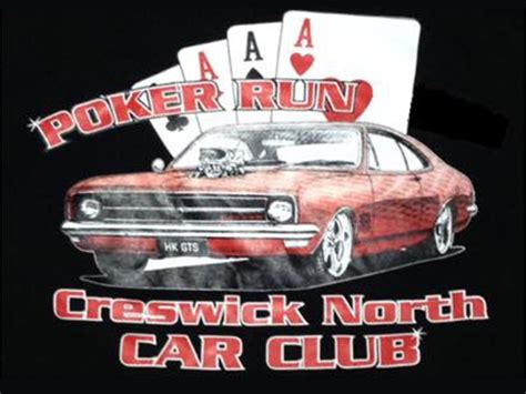 creswick north car club poker run show  shine shannons club