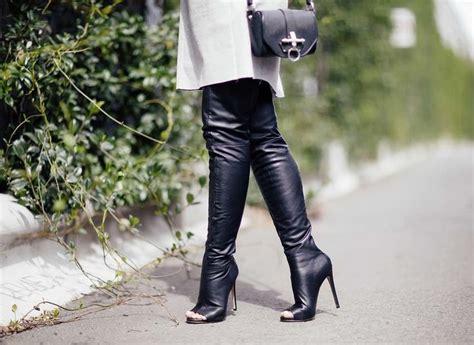 tony bianco thigh high peep toe boots shoe lovin