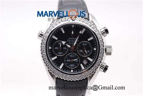Omega Seamaster Chronograph Leather Quality Premium omega seamaster chrono quartz black black leather 168 00 buy replica