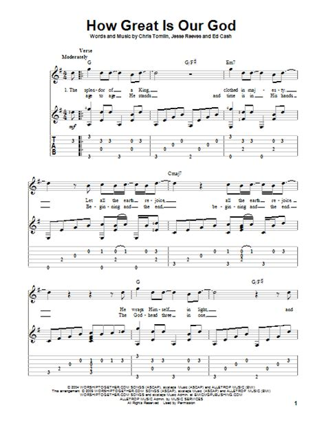 printable lyrics how great is our god how great is our god sheet music direct