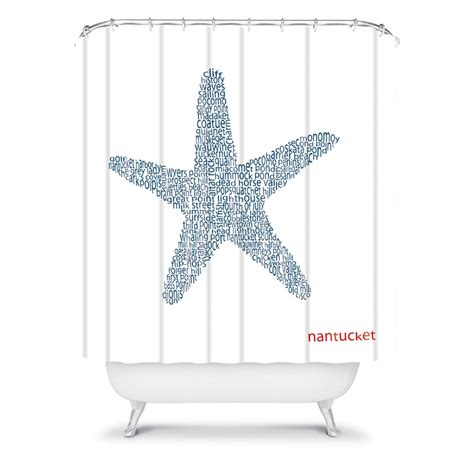 Nantucket Starfish Shower Curtain By Deny Designs