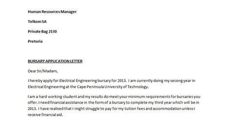 bursary application guide 2013 bursary application letter
