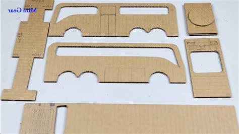 cara membuat miniatur mobil dari kardus bekas cara membuat kerajinan tangan miniatur bus dari kardus bekas