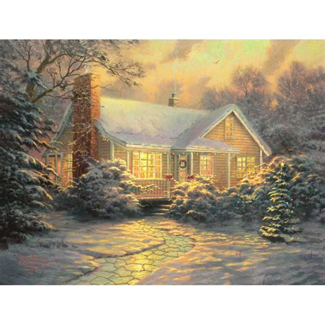 kinkade cottage painting kinkade cottage