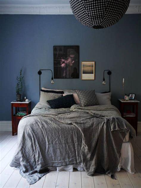 blaues schlafzimmer chambre bleu et gris id 233 es d 233 co en tons neutres et froids