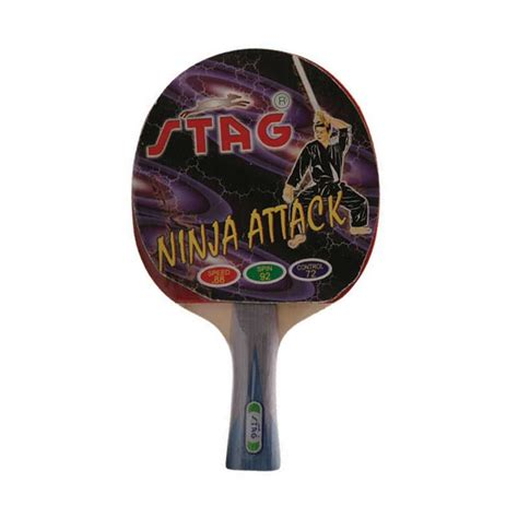 stag rubber st stag attack table tennis bat