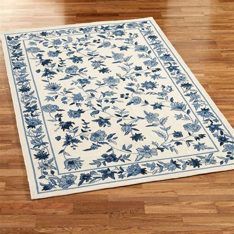 carleson ivory and blue rug bonnie blue rugs