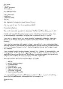 Image Researcher Cover Letter by Equity Research Analyst Cover Letter Free Cover Letter
