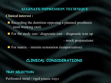 impression material dental courses
