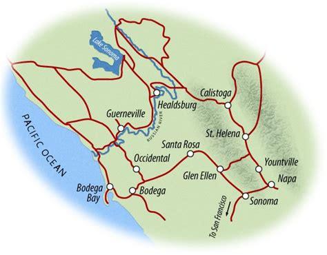 california map napa sonoma fall bike tours in california autumn cycling napa sonoma