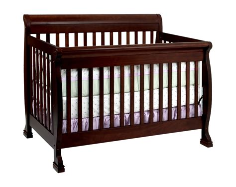 Cribs For Baby Davinci Kalani 4 In 1 Convertible Baby Crib Espresso W Toddler Rails M5501q