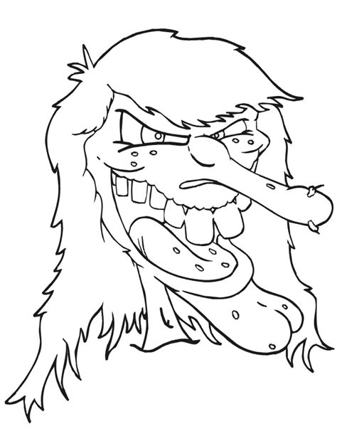scary monster coloring pages az coloring pages